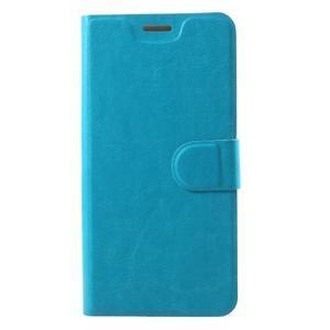 Horse PU kožené pouzdro na mobil Motorola Moto G6 Play - modré - 1