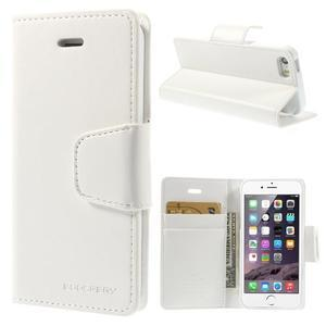 Peněženkové koženkové pouzdro na iPhone 5s a iPhone 5 - bílé - 1