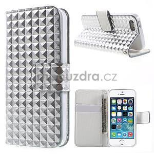 Cool Style pouzdro na iPhone 5 a iPhone 5s - stříbrné - 1