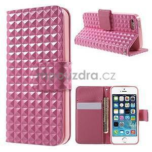 Cool Style pouzdro na iPhone 5 a iPhone 5s - růžové - 1