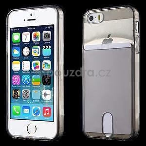 Ultra tenký obal s kapsičkou pro iPhone 5 a 5s - šedý - 1