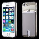 Ultra tenký obal s kapsičkou pro iPhone 5 a 5s - šedý - 1/6