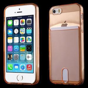 Ultra tenký obal s kapsičkou pro iPhone 5 a 5s - oranžový - 1