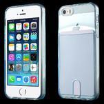 Ultra tenký obal s kapsičkou pro iPhone 5 a 5s - modrý - 1/6
