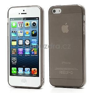 Gelový transparentní obal na iPhone 5 a 5s - šedý - 1