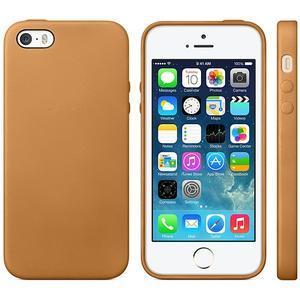 Gelový obal s texturou na iPhone 5 a 5s - oranžový - 1