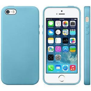 Gelový obal s texturou na iPhone 5 a 5s - modrý - 1