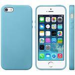 Gelový obal s texturou na iPhone 5 a 5s - modrý - 1/6