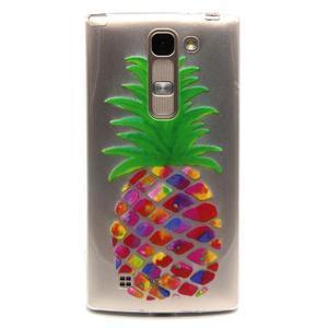 Průhledný gelový obal na LG G4c - ananas - 1