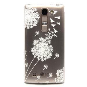Průhledný gelový obal na LG G4c - bílá pampeliška - 1