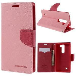 Diary PU kožené pouzdro na LG G4c - růžové - 1