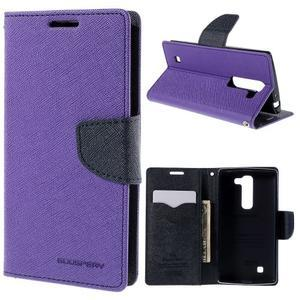 Diary PU kožené pouzdro na LG G4c - fialové - 1