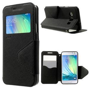 Roar peněženkové pouzdro s okýnkem na Samsung Galaxy A3 - černé - 1