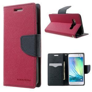 Diary PU kožené pouzdro na Samsung Galaxy A3 - rose - 1