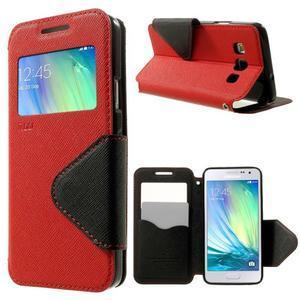 Roar peněženkové pouzdro s okýnkem na Samsung Galaxy A3 - červené - 1