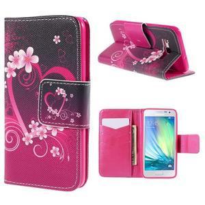 Pouzdro na mobil Samsung Galaxy A3 - srdce - 1