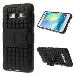 Outdoor odolný kryt na mobil Samsung Galaxy A3 - černý - 1