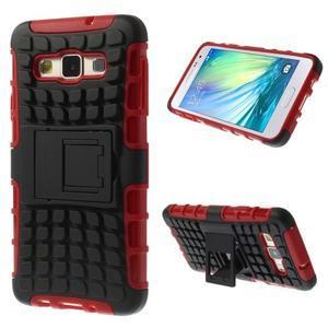 Outdoor odolný kryt na mobil Samsung Galaxy A3 - červený - 1
