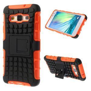 Outdoor odolný kryt na mobil Samsung Galaxy A3 - oranžový - 1