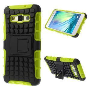 Outdoor odolný kryt na mobil Samsung Galaxy A3 - zelený - 1