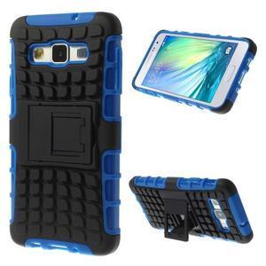 Outdoor odolný kryt na mobil Samsung Galaxy A3 - modrý - 1