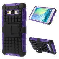 Outdoor odolný kryt na mobil Samsung Galaxy A3 - fialový - 1/7