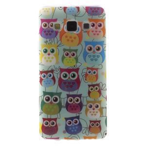 Gelový obal na mobil Samsung Galaxy A3 - sovičky - 1