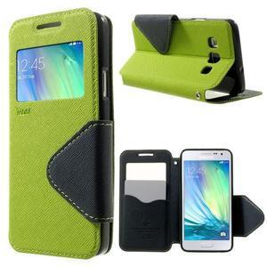 Roar peněženkové pouzdro s okýnkem na Samsung Galaxy A3 - zelené - 1