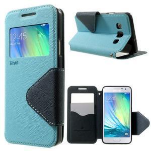 Roar peněženkové pouzdro s okýnkem na Samsung Galaxy A3 - světlemodré - 1