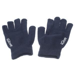 Gloves dotykové rukavice na mobil - tmavěmodré - 1