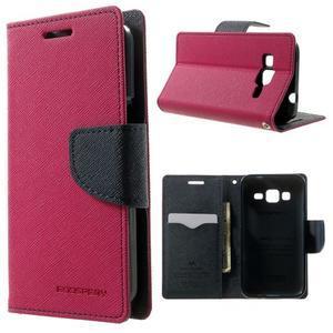 Fancy PU kožené pouzdro na Samsung Galaxy Core Prime - rose - 1