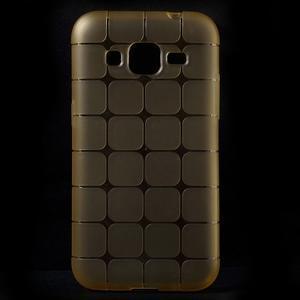 Square matný gelový obal na Samsung Galaxy Core Prime - champagne - 1