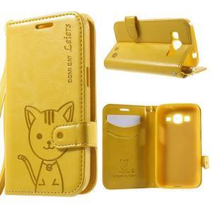 Kočička Domi pouzdro na Samsung Galaxy Core Prime - žluté - 1