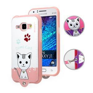 Kočička Domi obal na mobil Samsung Galaxy Core Prime - bílý - 1
