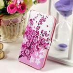 Pouzdro na mobil Samsung Galaxy Core Prime - kvetoucí větvička - 1/7