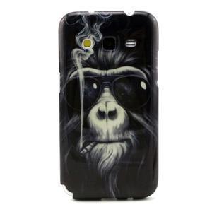 Gelový obal pro Samsung Core Prime - kouřící orangutan - 1