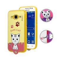 Kočička Domi obal na mobil Samsung Galaxy Core Prime - žlutý - 1/2