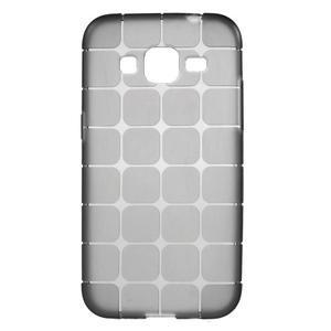 Square matný gelový obal na Samsung Galaxy Core Prime - šedý - 1
