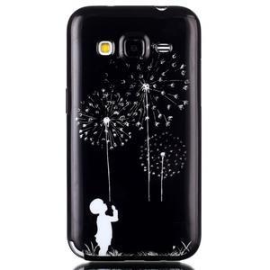Gelový kryt na mobil Samsung Galaxy Core Prime - chlapec a pampelišky - 1
