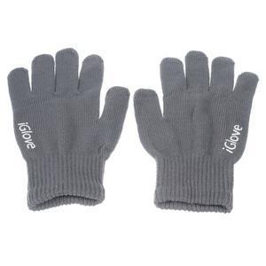 Gloves dotykové rukavice na mobil - tmavěšedé - 1