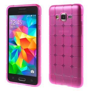 Square gelový obal na Samsung Galaxy Grand Prime - rose - 1