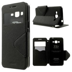 Safety pouzdro s okýnkem pro Samsung Galaxy Grand Prime - černé - 1