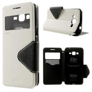 Safety pouzdro s okýnkem pro Samsung Galaxy Grand Prime - bílé - 1