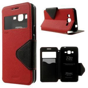 Safety pouzdro s okýnkem pro Samsung Galaxy Grand Prime - červené - 1