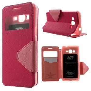 Safety pouzdro s okýnkem pro Samsung Galaxy Grand Prime - rose - 1