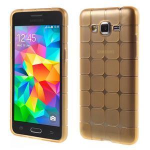Square gelový obal na Samsung Galaxy Grand Prime - zlaté - 1