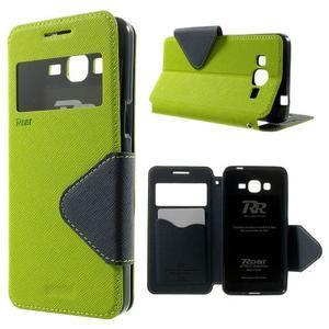Safety pouzdro s okýnkem pro Samsung Galaxy Grand Prime - zelené - 1