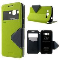 Safety pouzdro s okýnkem pro Samsung Galaxy Grand Prime - zelené - 1/7