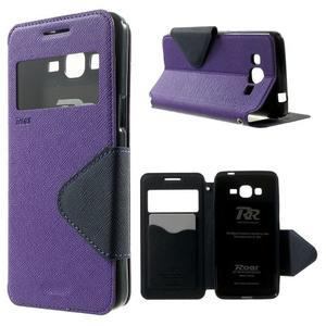 Safety pouzdro s okýnkem pro Samsung Galaxy Grand Prime - fialové - 1