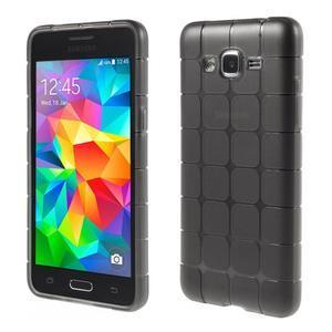 Square gelový obal na Samsung Galaxy Grand Prime - šedý - 1